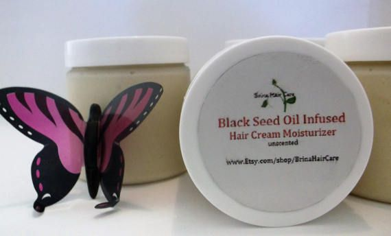 Organic Black Seed Oil Infused Hair Cream by BrinaHairCare on Etsy