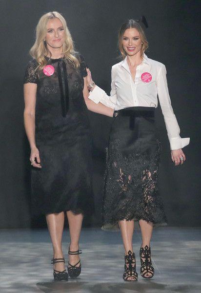 Georgina Chapman Photos Photos - Designers Keren Craig and Georgina Chapman walk the runway for the Marchesa collection during New York Fashion Week: The Shows at Gallery 2, Skylight Clarkson Sq on February 15, 2017 in New York City. - Marchesa - Runway - February 2017 - New York Fashion Week: The Shows