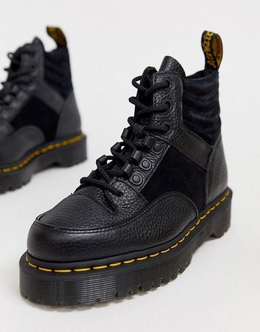 490d501aeeb Dr Martens Zuma flat chunky leather boots in black in 2019 | clothes ...