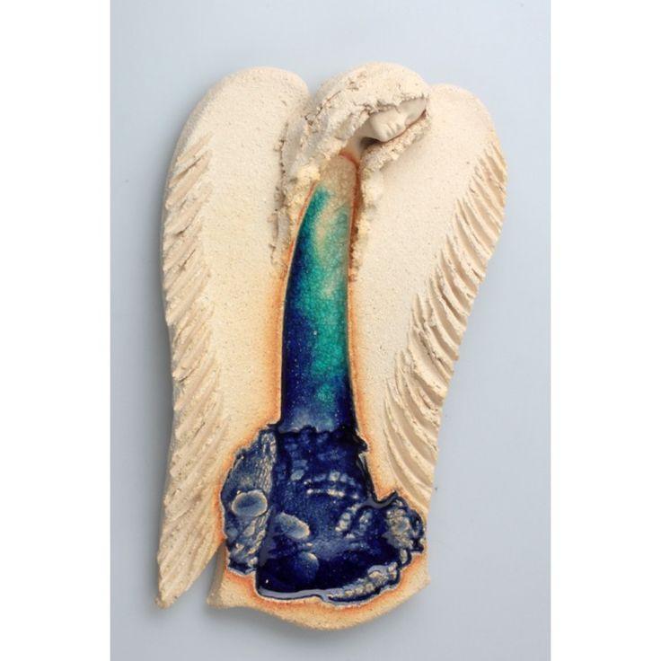 Anioł wiszący w błękitach I