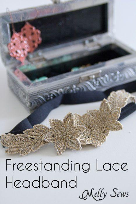 Freestanding Lace Headband DIY Tutorial - Melly Sews