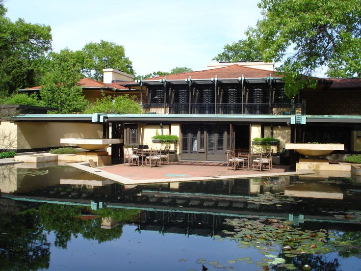Avery coonley estate frank lloyd wright prairie style for Housse illinois