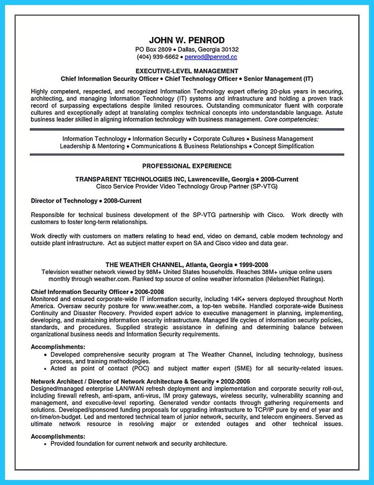 nice Outstanding CTO Resume for Professionals, Check more at http://snefci.org/outstanding-cto-resume-professionals