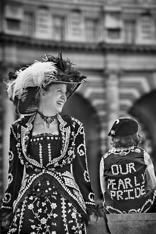 Pearly Kings and Queens Black and White Photo647