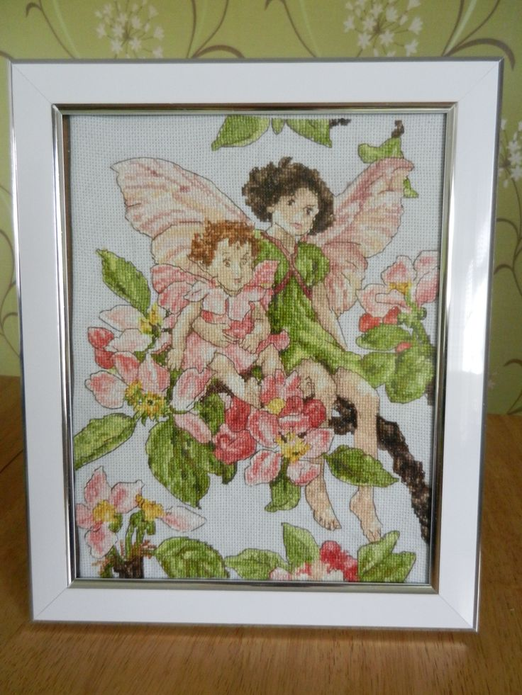 these gorgeous fairies have been cross stitched and framed by Tulipacious Designs.