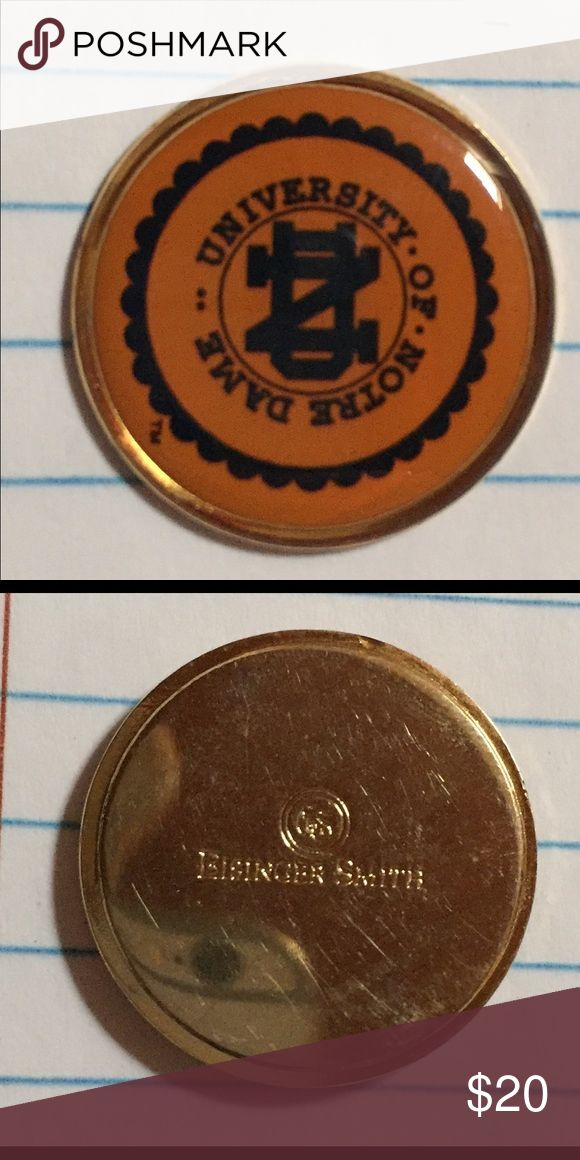 Vintage University of Notre Dame golf ball marker Vintage University of Notre Dame golf ball marker  Made in USA  By Eisinger Smith  Great condition! Eisinger Smith Other