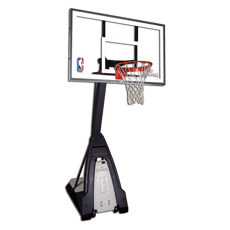"""Spalding """"The Beast"""" Glass Portable Basketball Hoop System - 74560"""