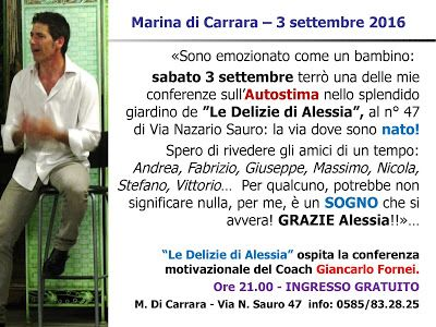 Come Vivere Alla Grande: #AUTOSTIMA - a Marina di Carrara (sabato 3 settemb...
