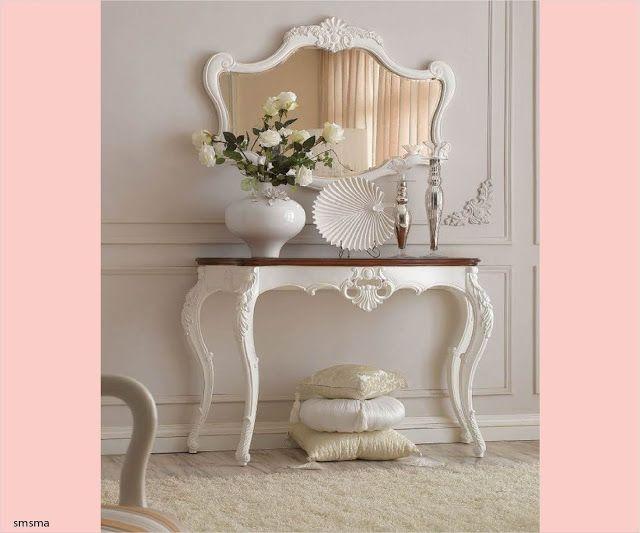سمسمة سليم احدث صور كونسول ومراية مدخل البيت تصميمات مودرن و Table Decor Living Room Victorian Furniture Decor Decor
