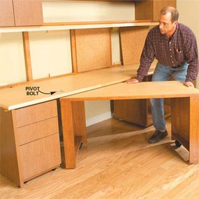 how to build a home office - Kitchen Table Sewing