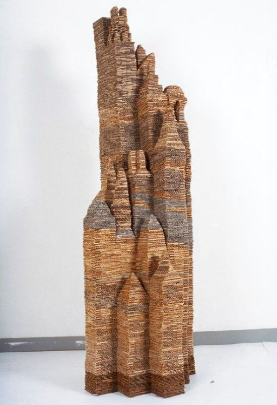 Gut gemocht 109 best Art: Cardboard Sculpture images on Pinterest | Cardboard  DF31