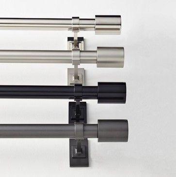 Oversized Metal Rod - contemporary - curtain poles - West Elm