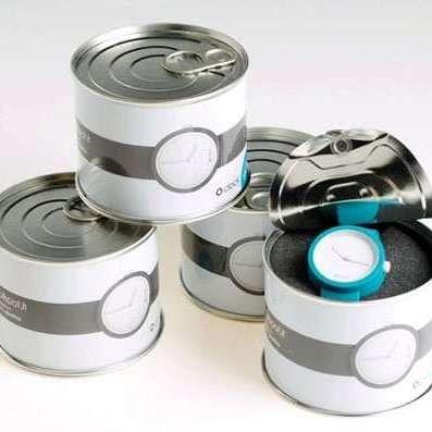 缶詰に入った腕時計 フレッシュネス表現   Fashionsnap.com
