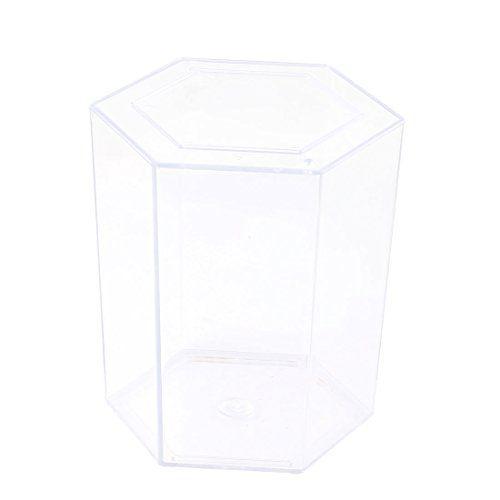 NEED:  Clear Plastic 12cm High Hexagon Shaped Betta Fish Tank Aquarium