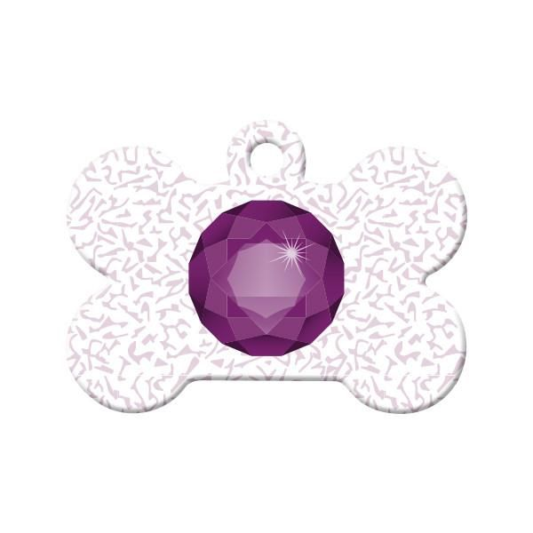 February Birthstone - Celebrate your pet's birthday or gotcha day month with their own birthstone pet tag!