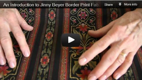 Tips & Lessons working with border prints Jinny Beyer