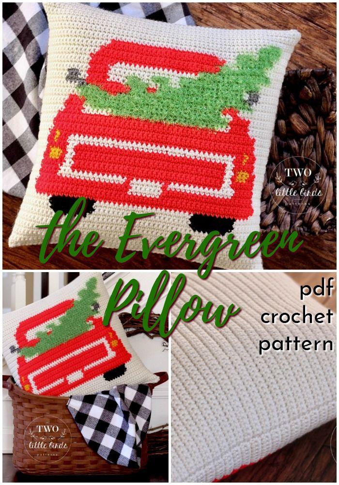 Farmhouse Crochet Patterns In 2020 Pillow Cover Crochet Pattern Christmas Crochet Patterns Free Crochet Pillow Pattern