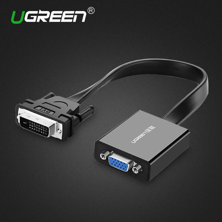 Ugreen Full HD 1080P DVI-D 24+1 to VGA HDTV Converter DVI Male to VGA Female Monitor Cable for PC Laptop HDTV Home Theater