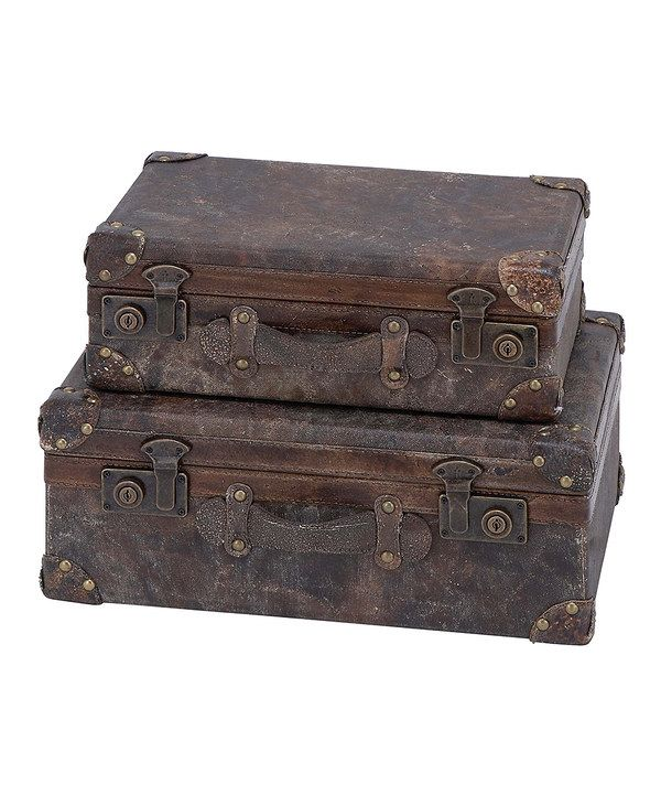 Look at this Weathered Trunk Set on #zulily today!