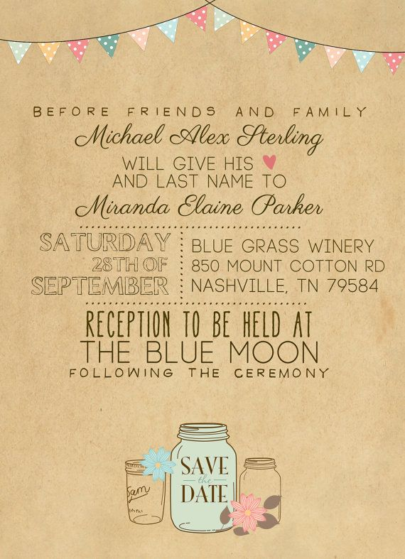 Wedding Invitation Suite Set Printed Custom DIY by SplashOfSilver