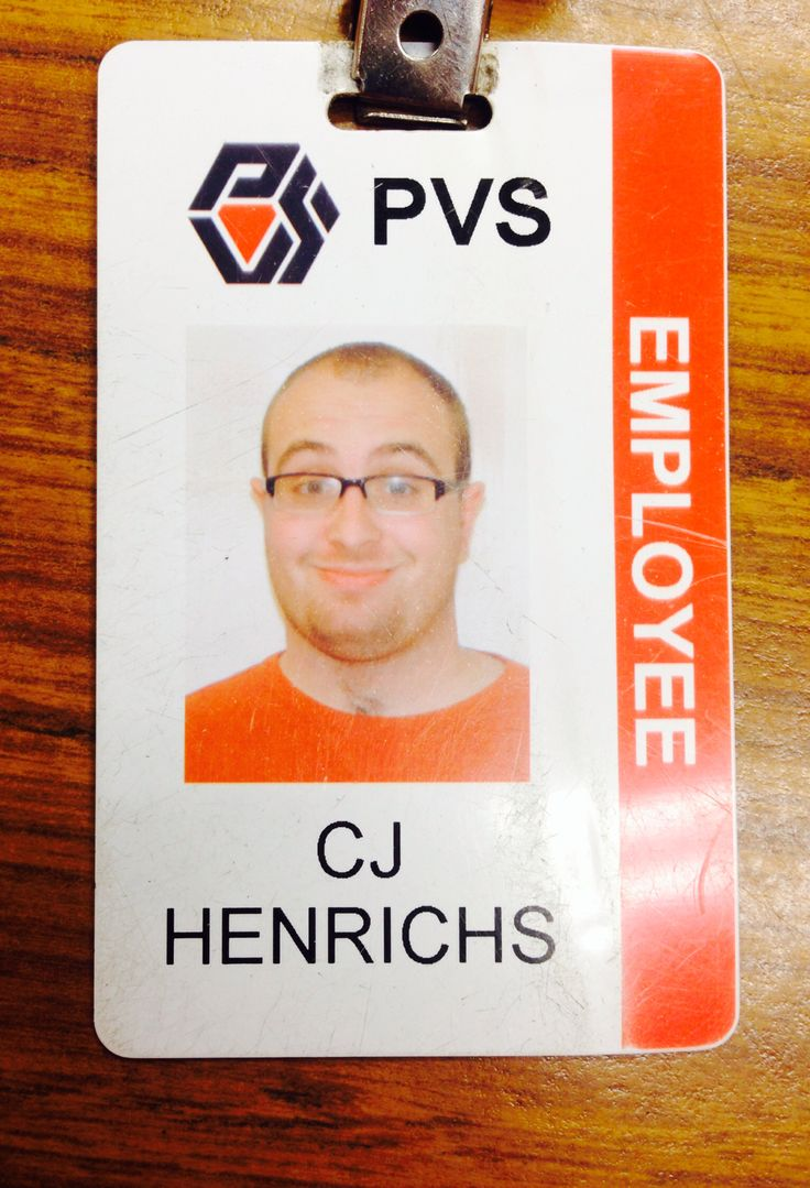 Best Id Badge Images On   Employee Id Card Contact