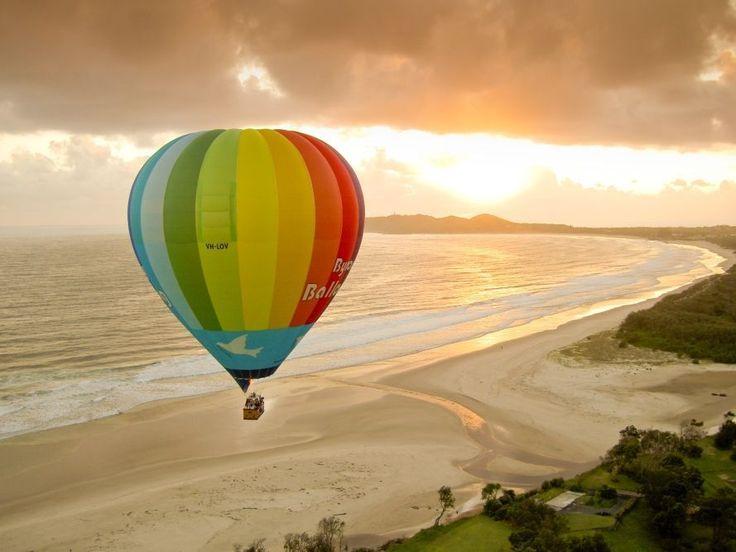Love to go Ballooning over Byron Bay, Australia #Travel #BucketList