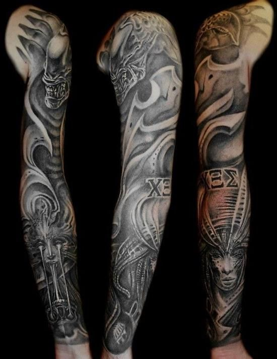 biomechanical giger tattoo - photo #42