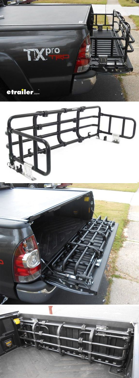 Fold down truck bed expander black