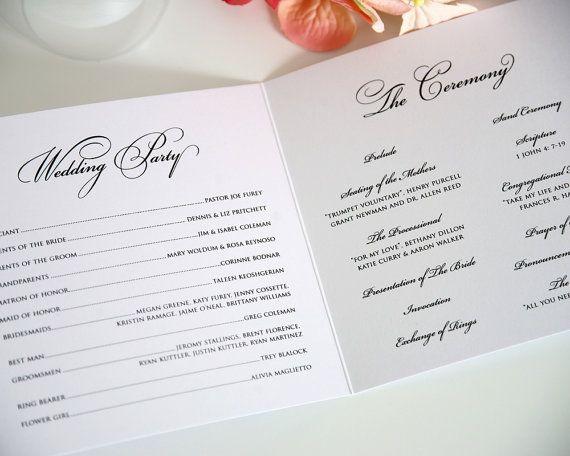 trifold wedding program examples koni polycode co