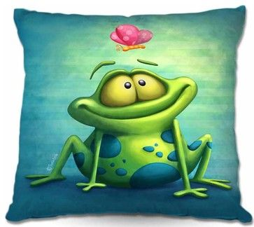 Pillow Woven Poplin - The Frog II - Bed Pillows And Pillowcases - DiaNoche Designs