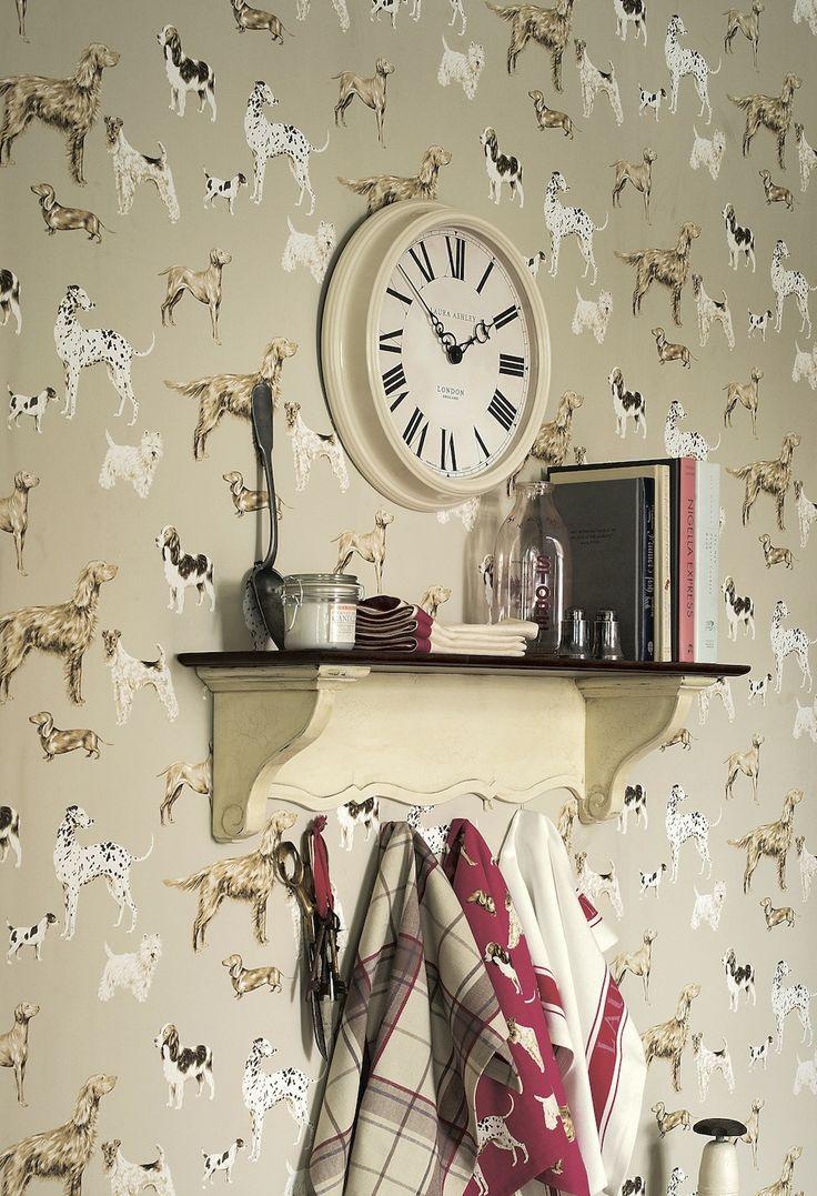Laura Ashley dog wallpaper