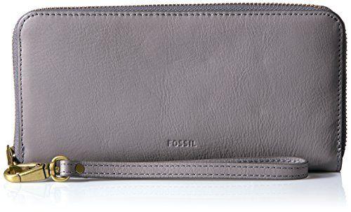 Fossil Emma Rfid Large Zip Wallet-Grey - http://www.darrenblogs.com/2017/02/fossil-emma-rfid-large-zip-wallet-grey/