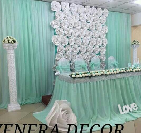 Diy Drapes For Wedding: Paper Flowers Backdrop Wedding