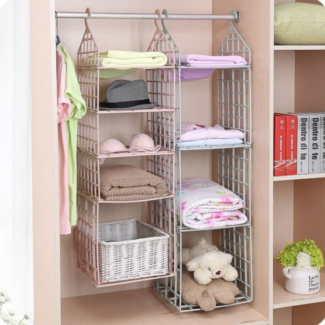 Wardrobe Storage Diy Hanger Hanging Closet Organizer Clothes Shelf Rack Hanging Closet Organizer Clothes Shelves Diy Storage Shelves