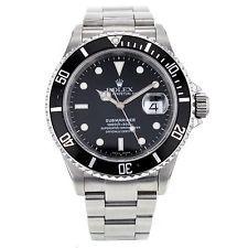 Rolex Submariner 40mm 16610 Stainless Steel Black Dial Men's Watch