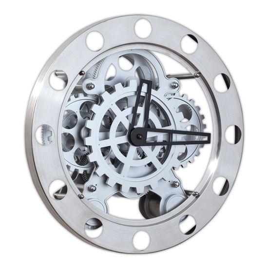 Metal Çarklı Özel Duvar Saati  Ürün Bilgisi ;  Metal Gövdeli Sessiz çalışır Mimar ve mühendislik için çok uygun Bir Yıl Üretici Firma Garantilidir.  Ürün Boyutu ;  Çap : 35,5 cm