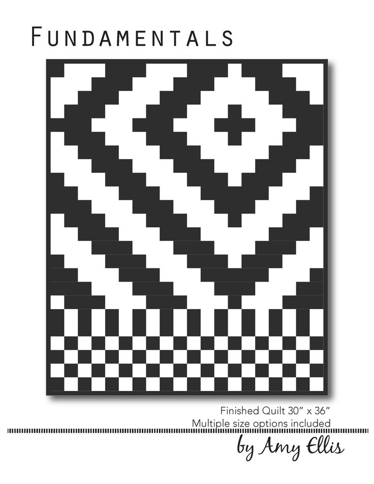 You are going to LOVE this pattern! Fundamentals is simple and fun to make with no blocks and a bold design. A graphic quilt in solids or soft and flirty in florals this quilt is a favorite to make! P