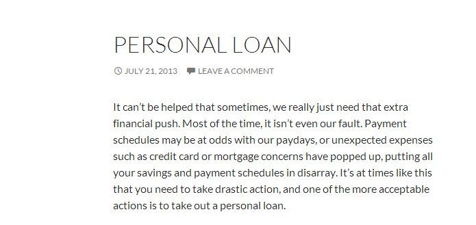 Come find a personal loan in singapore today!