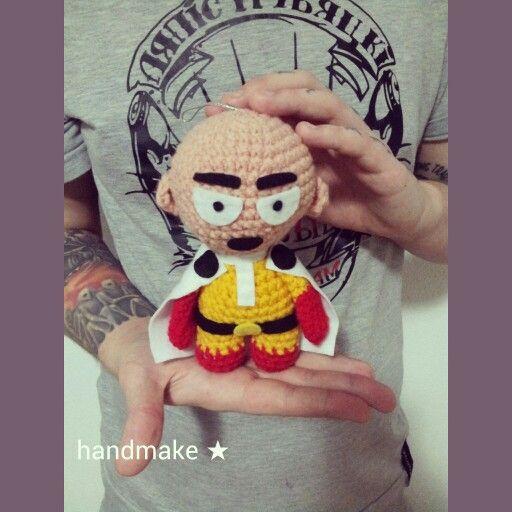 One Punch Man  #handmake #handmade #anime #onepunchman #speedofsoundsonic #akamegakill #onepunchmananime #onepunchmanmanga #onepunchmansaitama #saitama #amigurumi #toy #actionfigure #сайтама #サイタマスーパーアリーナ #аниме #амигуруми #игрушка #коллекционнаяфигурка