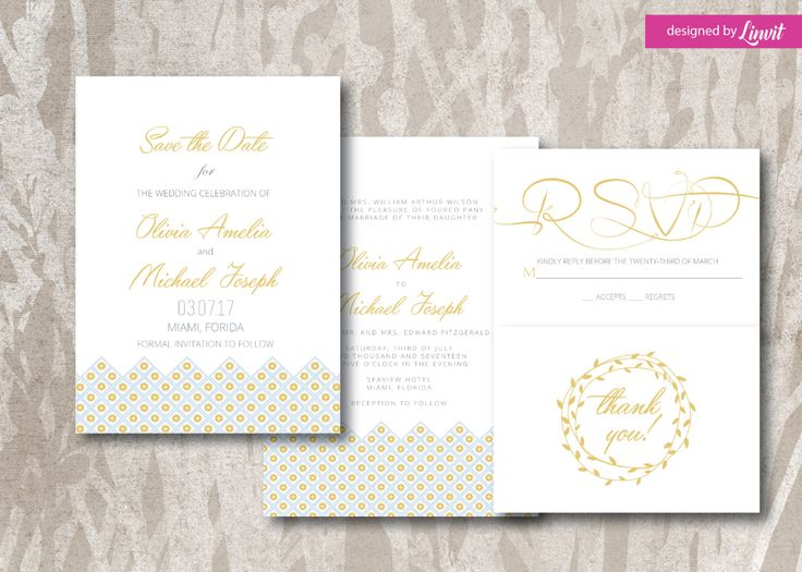 Luxury Wedding Invitation--Digital wedding invitation-Printable wedding invitation set-Custom wedding invitation-minimal-patterned by Linvit on Etsy