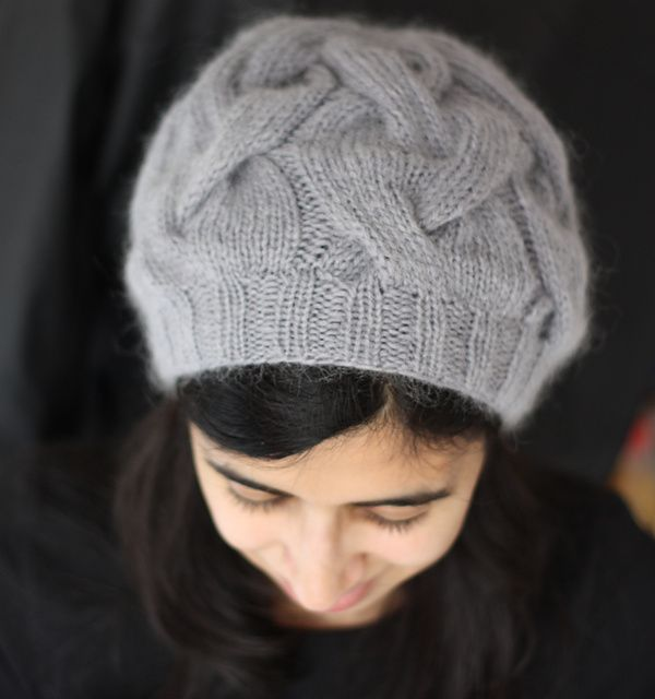 knittingowl's Cloudy Cables (Pattern: 16 Sixteen Cable Hat by Circé Belles Boucles)
