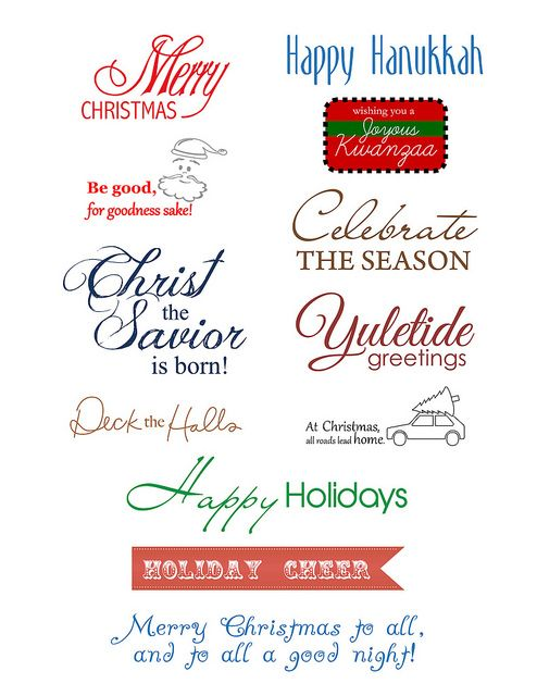 Holiday sentiments to download by Paper Crafts
