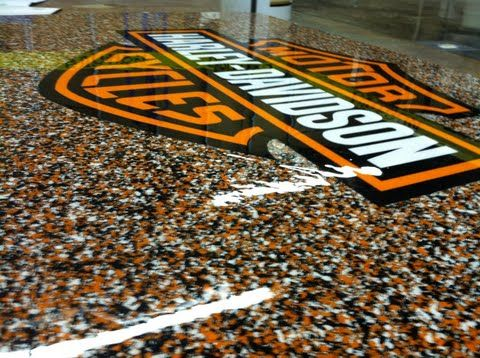 Harley Davidson Epoxy Chip Flooring Abilene Texas Epoxy