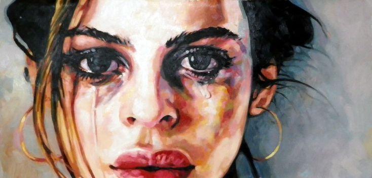 "Saatchi Online Artist: thomas saliot; Oil, Painting ""Big tears"""