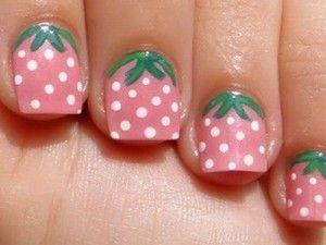 strawberry design cute nail ideas