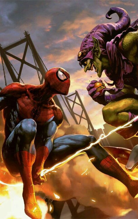 #Spiderman #Fan #Art. (Spider-Man VS Green Goblin) By: Wonchun Choi aka Doo-chun. ÅWESOMENESS!!!™ ÅÅÅ+