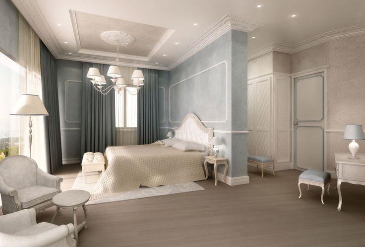 Classic Master Bedroom rendering