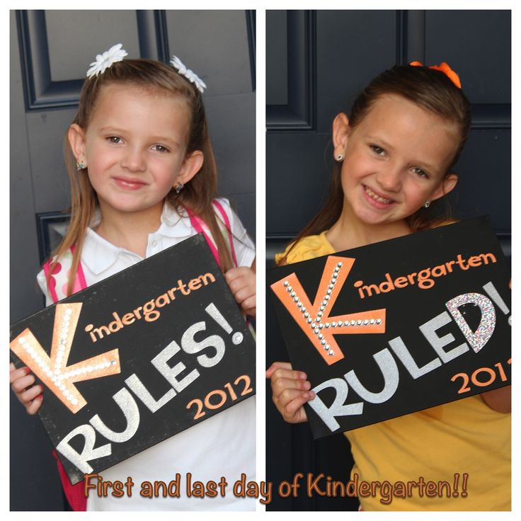 What a creative idea!! First day of school and last day of school pictures side by side to show how your child changes!