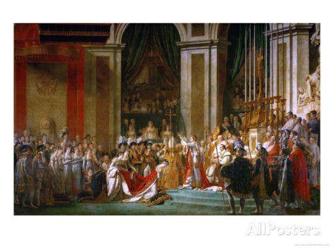 Sacre de Napoléon (couronnement) à Notre-Dame de Paris par le pape Pie VII, le 2 décembre Impression giclée