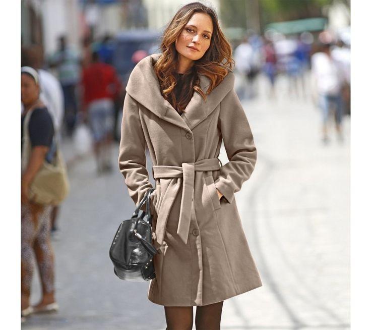 Kabát s širokým výstřihem a kapucí | blancheporte.cz #blancheporte #blancheporteCZ #blancheporte_cz  #fall #autumn #podzim #bunda
